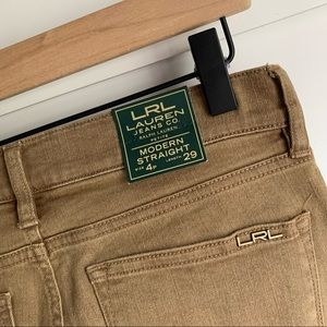 RALPH LAUREN | NWT Tan Slimming Modern Straight 4P